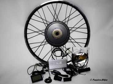E-Bike / Pedelec Umbausatz kit ~ 1500 Watt Heck Motor 28/29 Zoll ~ KT3 Display ~ Gasgriff