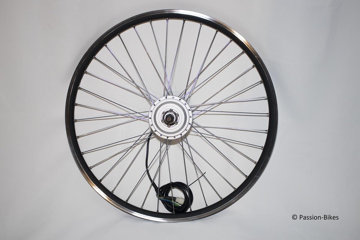 passion bikes e bike pedelec umbausatz kit 250 watt front motor 28 kt3 display gasgriff. Black Bedroom Furniture Sets. Home Design Ideas