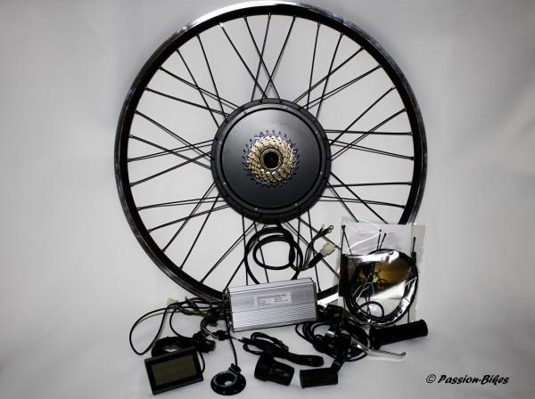 E-Bike / Pedelec Umbausatz kit ~ 1500 Watt Heck Motor 27,5 Zoll ~ KT3 Display ~ Gasgriff